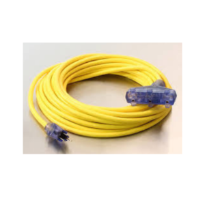 25 ft Extension Cord 12/3 Triple Tap